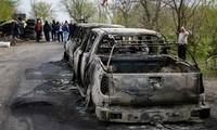 กลุ่มผู้ชุมนุมประท้วงรัฐบาลในประเทศยูเครนขอความช่วยเหลือจากรัสเซีย