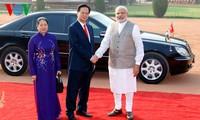 เวียดนามและอินเดียเห็นพ้องที่จะกระชับความสัมพันธ์ร่วมมือในทุกด้าน