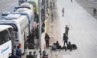 กองกำลังฝ่ายต่อต้านในซีเรียถอนตัวจากฐานที่มั่นสุดท้ายในเขต Ghouta  ตะวันออก
