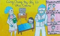 เยาวชนเขตบาดิ่ง กรุงฮานอยร่วมแรงร่วมใจรับมือการแพร่ระบาดของโรคโควิด-19