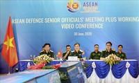 การประชุมกลุ่มปฏิบัติงานเจ้าหน้าที่อาวุโสด้านกลาโหมอาเซียนขยายวงผ่านวิดีโอคอนเฟอเรนซ์