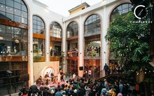 Kreativer Kulturraum aus alter Fabrik