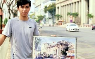 Doàn Quôc et ses aquarelles consacrées à Hô Chi Minh-ville