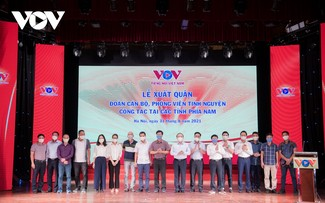VOV reporters sent off to southern provinces to fight COVID-19