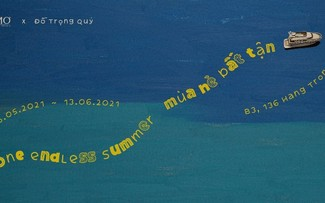 """A trip through childhood in Do Trong Quy's """"One endless summer"""" exhibition"""