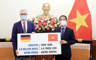 Vietnam receives 2.6 million doses of COVID-19 vaccine from Germany