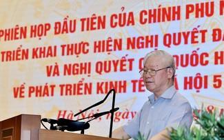 Nguyên Phu Trong: Un appareil gouvernemental favorable au développement durable