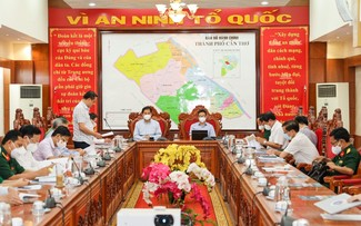 Vu Duc Dam inspecte les dispositifs anti-Covid-19 à Trà Vinh et Cân Tho