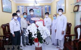 越南政府宗教委员会祝贺高台教瑶池宫宴会大典