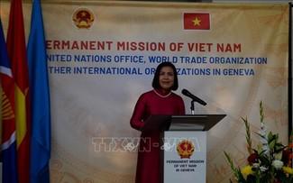 Bạn bè quốc tế kỷ niệm 76 năm Quốc khánh Việt Nam tại trụ sở Phái đoàn thường trực Việt Nam tại Geneva