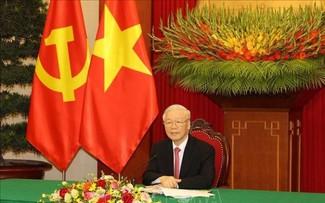 Tổng Bí thư Nguyễn Phú Trọng và Tổng Bí thư, Chủ tịch nước Tập cận Bình điện đàm