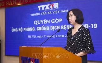 Thông tấn xã Việt Nam ủng hộ công tác phòng, chống dịch COVID-19