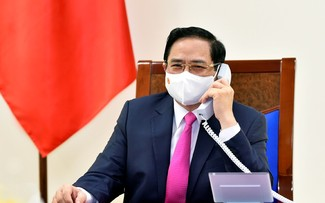 Premier vietnamita y su par japonés concuerdan en fortalecer la cooperación binacional
