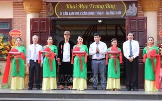 Trưng bày văn hoá Chăm nhân kỷ niệm 46 năm ngày giải phóng Ninh Thuận