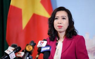Việt Nam ủng hộ việc giải quyết các tranh chấp liên quan ở Biển Đông thông qua ngooại giao và pháp lý