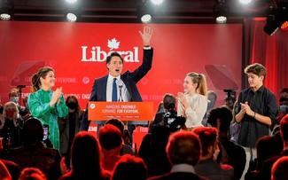 Поздравительная телеграмма  в адрес премьер-министра Канады Джастина Трюдо