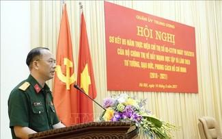 Cán bộ, chiến sĩ toàn quân đẩy mạnh học tập, làm theo tư tưởng, đạo đức, phong cách Hồ Chí Minh
