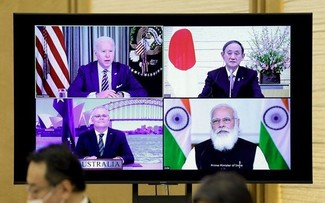 Quad leaders press for free and open Indo-Pacific