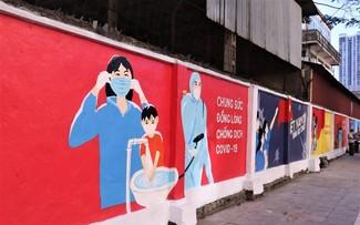 Hanoi murals raise awareness of COVID-19 prevention