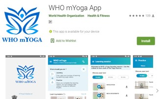 WHO mYOGA app – practice yoga at the comfort of your home
