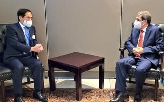 越南外交部长裴青山在第76届联合国大会范围内举行一系列会晤活动