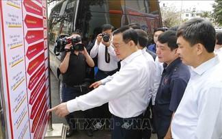 Presidente del Parlamento revisa preparativos para los próximos comicios legislativos en Quang Ninh