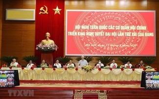 Nguyên Phu Trong dirige la Conférence nationale des organes chargés de la politique intérieure
