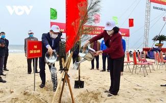 Phó Chủ tịch nước Đặng Thị Ngọc Thịnh phát động Tết trồng cây tại Quảng Bình