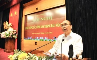 Chủ tịch nước Nguyễn Xuân Phúc dự hội nghị sơ kết công tác Công an 6 tháng
