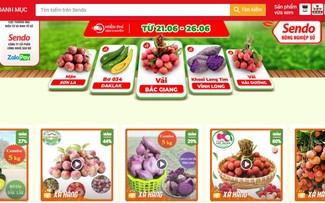 """""""Phiên chợ nông sản Việt trực tuyến"""" lên sàn thương mại điện tử Sendo"""