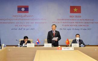 Việt Nam và Lào trao đổi kinh nghiệm xây dựng Luật Đo đạc và bản đồ