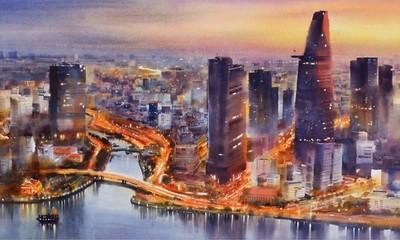 Großartige und lebendige Ho Chi Minh Stadt durch Aquarellbilder von Doan Quoc
