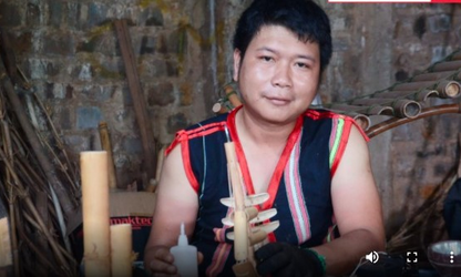 Young Jrai man with burning passion for traditional musical instruments