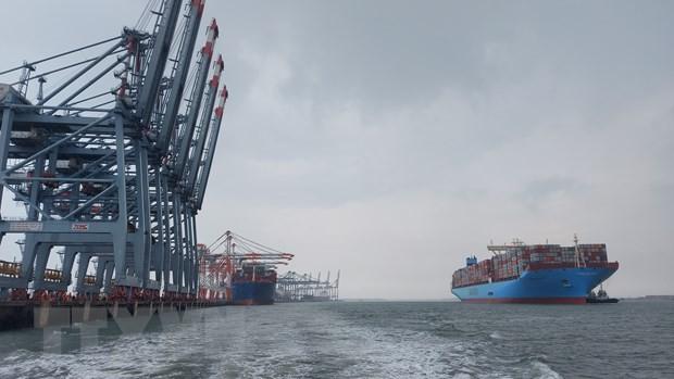 Provinsi Ba Ria-Vung Tau menyambut kedatangan kapal kontainer yang terbesar di dunia, Margrethe Maersk