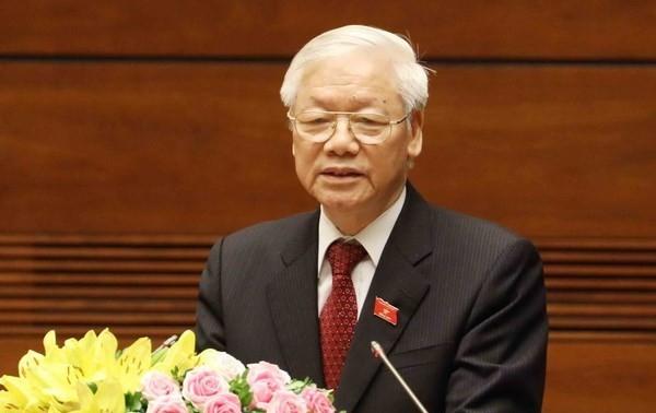 Máximo líder político de Vietnam felicita al Partido Comunista de Francia por el centenario de su establecimiento