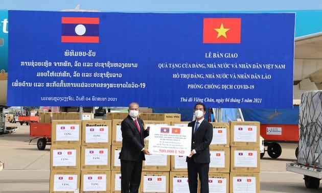 El máximo líder político de Laos agradece el apoyo de Vietnam en la lucha contra el covid-19