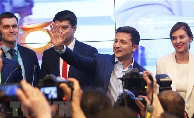 Líderes internacionales felicitan al presidente electo de Ucrania