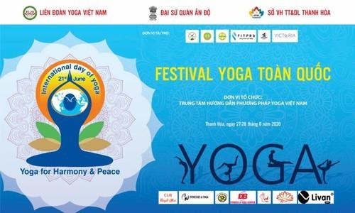 Celebrarán en Thanh Hoa Festival Nacional de Yoga 2020