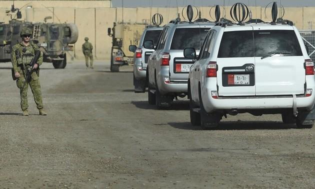 Fuerzas de la coalición internacional se retiran de bases militares en Irak