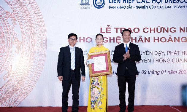 Unesco honra principal profesora culinaria de Vietnam