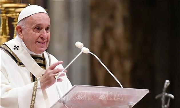 El papa Francisco alaba la tregua entre Israel y Palestina