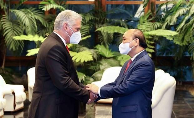 El presidente Nguyen Xuan Phuc concluye su visita oficial a Cuba