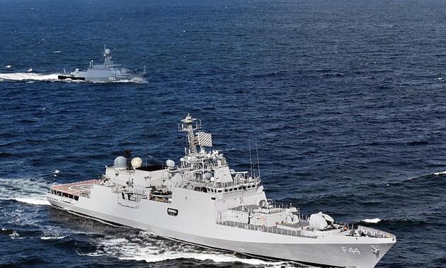 印度派遣4艘军舰驶往东海参加多场双边演习