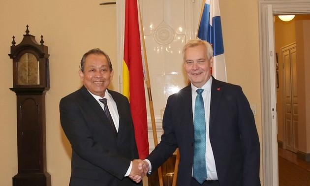 Le Vietnam souhaite développer son partenariat avec la Finlande