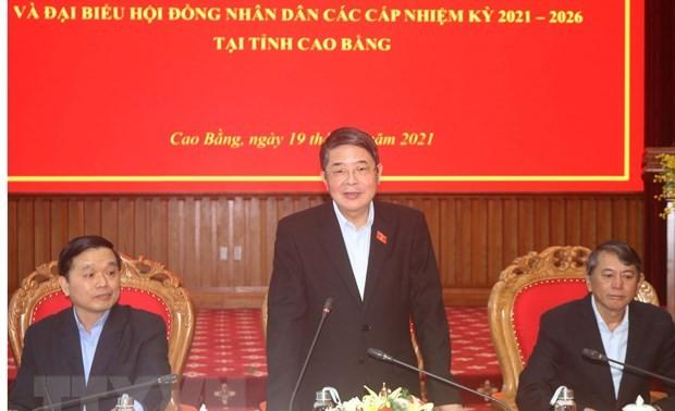 Législatives 2021 : déplacement du vice-président de l'AN Nguyên Duc Hai à Cao Bang
