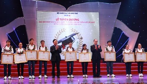 Olympiad medal winners honored