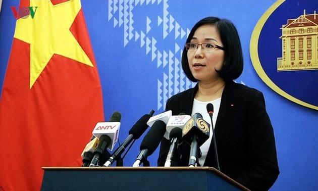 Vietnam fordert den Stop der Manöver auf der Insel Ba Binh