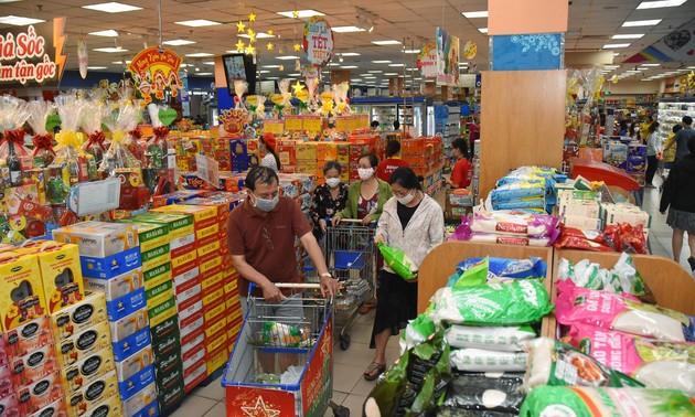 Gewährleistung der Waren für das Neujahrsfest Tet