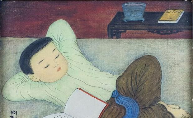 Ausstellung  der Bilder des Malers Mai Trung Thu in Frankreich