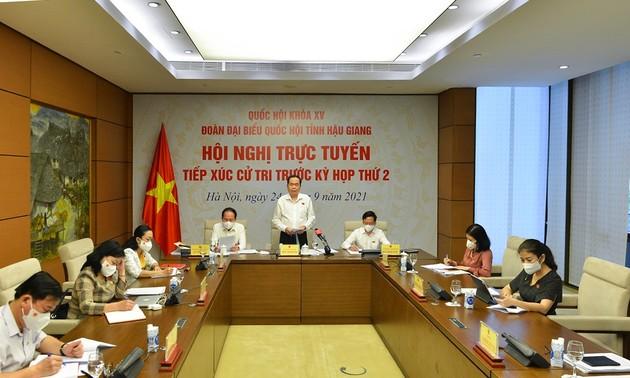 Vize-Parlamentspräsident Tran Thanh Man trifft Wähler in der Provinz Hau Giang